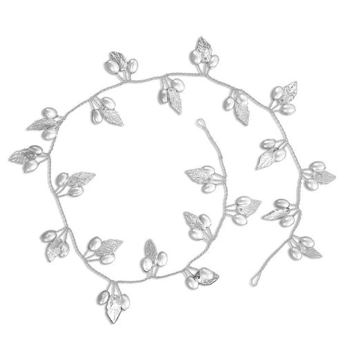 BP Bride Hair Vine with pearls silver