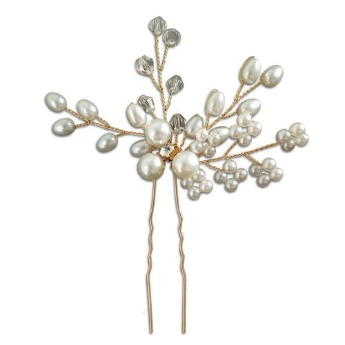 BP Bride Hair Pin with Diamonds Gold