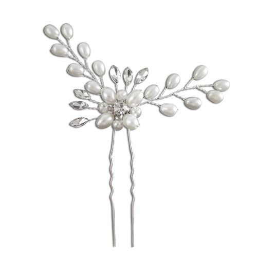 BP Bride Hair Pin with pearl flower silver