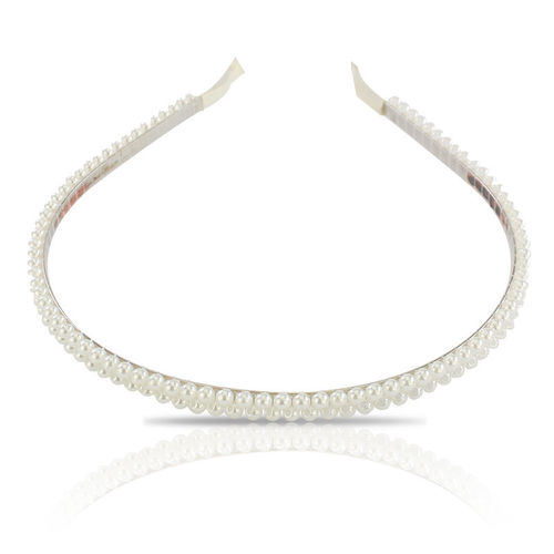 BP Accessories Pearl Headband Silver